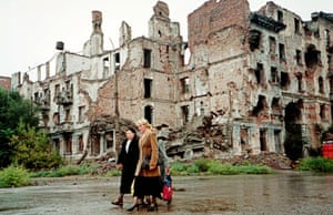 The Chechen capital Grozny under Russian occupation in 2001.