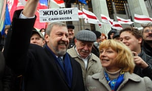 Andrei Sannikov ran for election against Lukashenko in 2010. He was sentenced in 2011 to five years in prison for organising mass disturbances, but eventually pardoned in 2012.