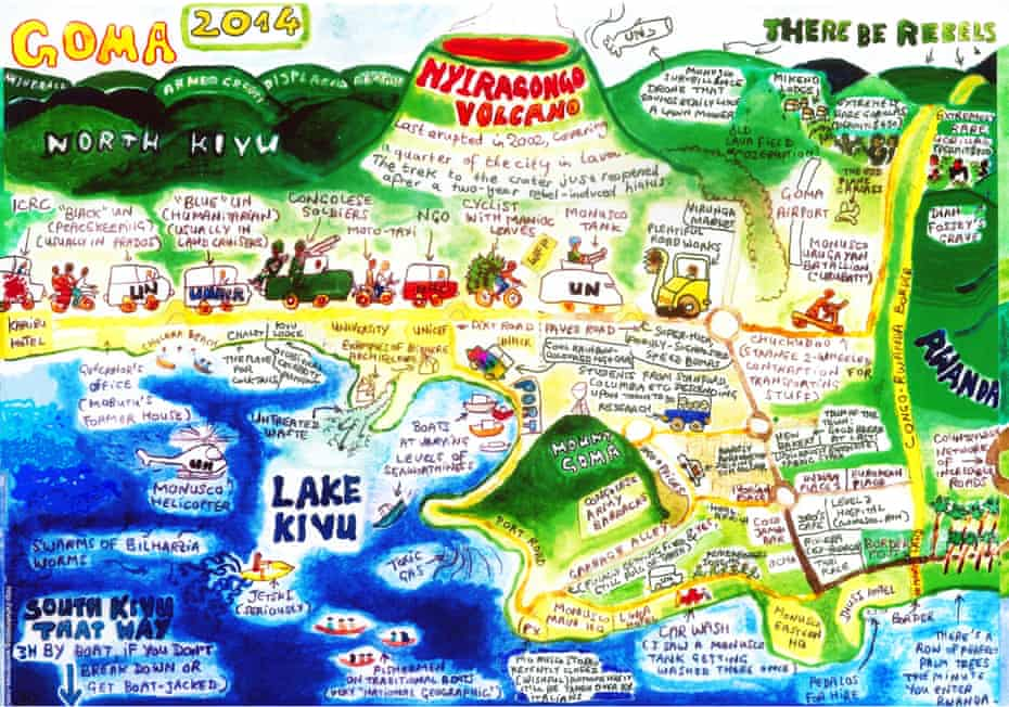 Map of Goma by Anne-France White