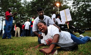 The execution of Troy Davis in Georgia in 2011 led to strong anti-death penalty protests.