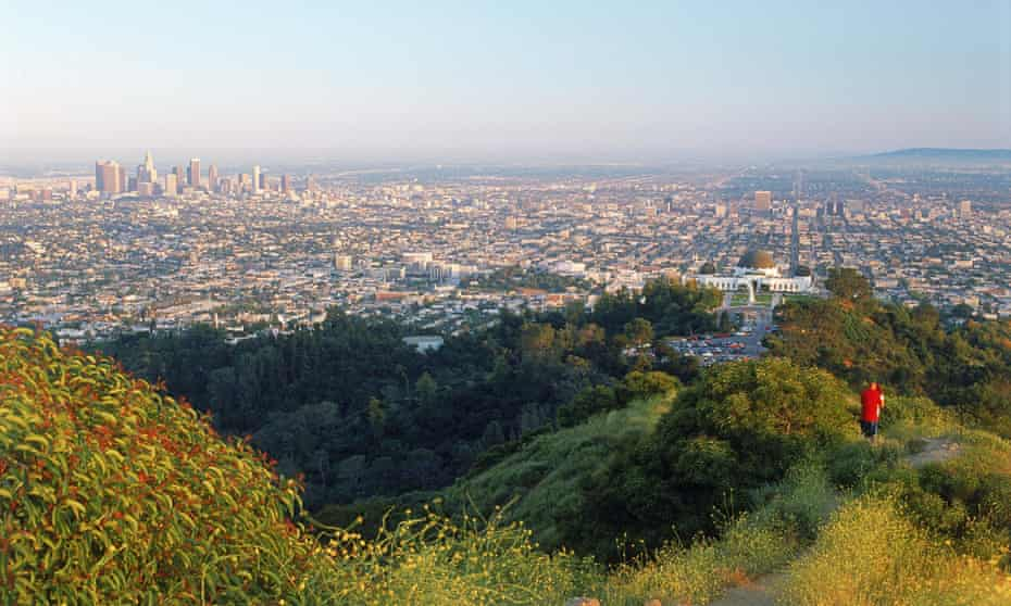 Los Angeles sprawls beyond the heights of Griffith Park, one of the city's many superb green spaces
