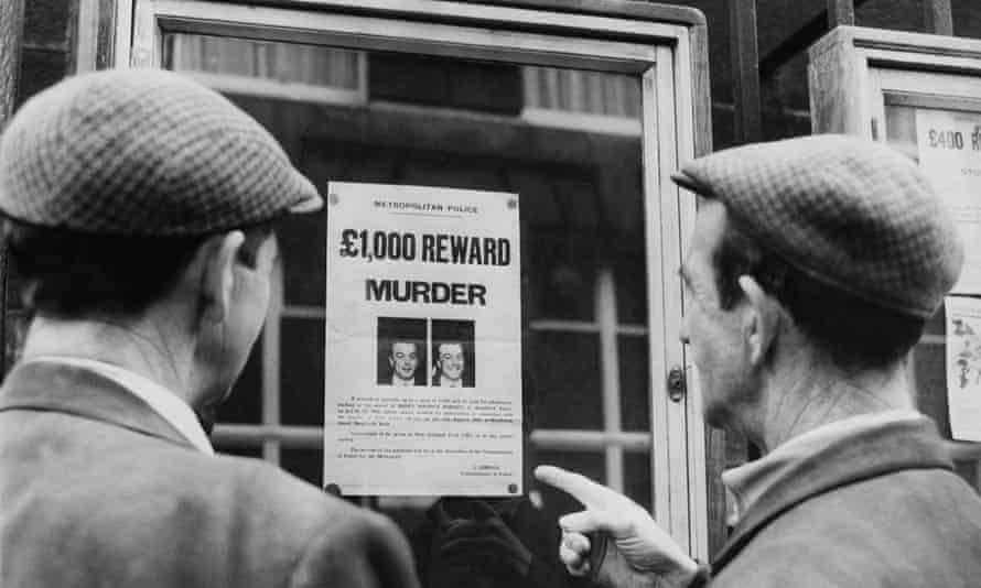 reward poster for Harry Roberts, John Duddy and John Witney