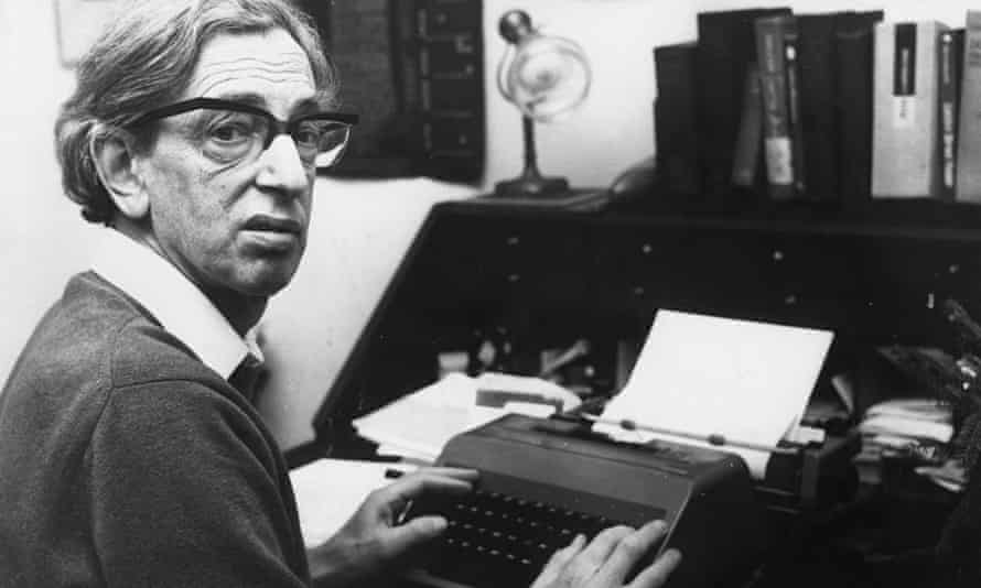 British historian Eric Hobsbawm at work in January 1976