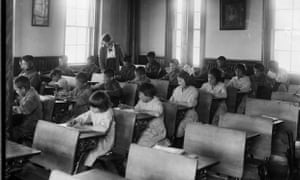 Interior of classroom, Brandon, Manitoba, 1946.