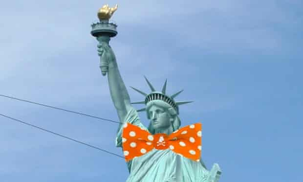 statue of liberty bow tie