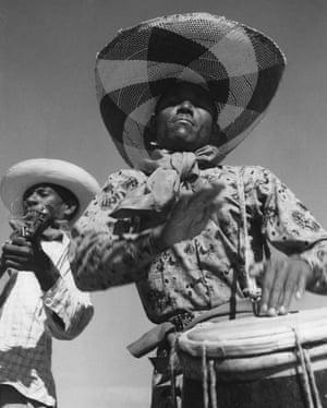 A Haitian drummer in Port-au-Prince 1950