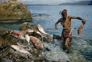 A spear fisherman in the US Virgin Islands 1956