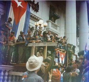 Fidel Castro in Santa Clara en route to his victorious entry into Havana in 1959