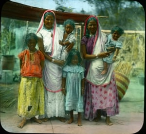 """Asian labourers or """"coolies"""" in Trindad and Tobago circa 1890"""