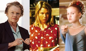 Judi Dench in Notes on a Scandal, Renee Zellweger as Bridget Jones, and Julia Stiles as 'the shrew' in Ten Things I Hate About You