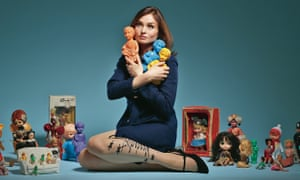 Sophie Ellis-Bextor with some of her doll collection.
