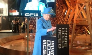 Queen Elizabeth II sends the first royal tweet under her own name to declare a new Science Museum gallery open.