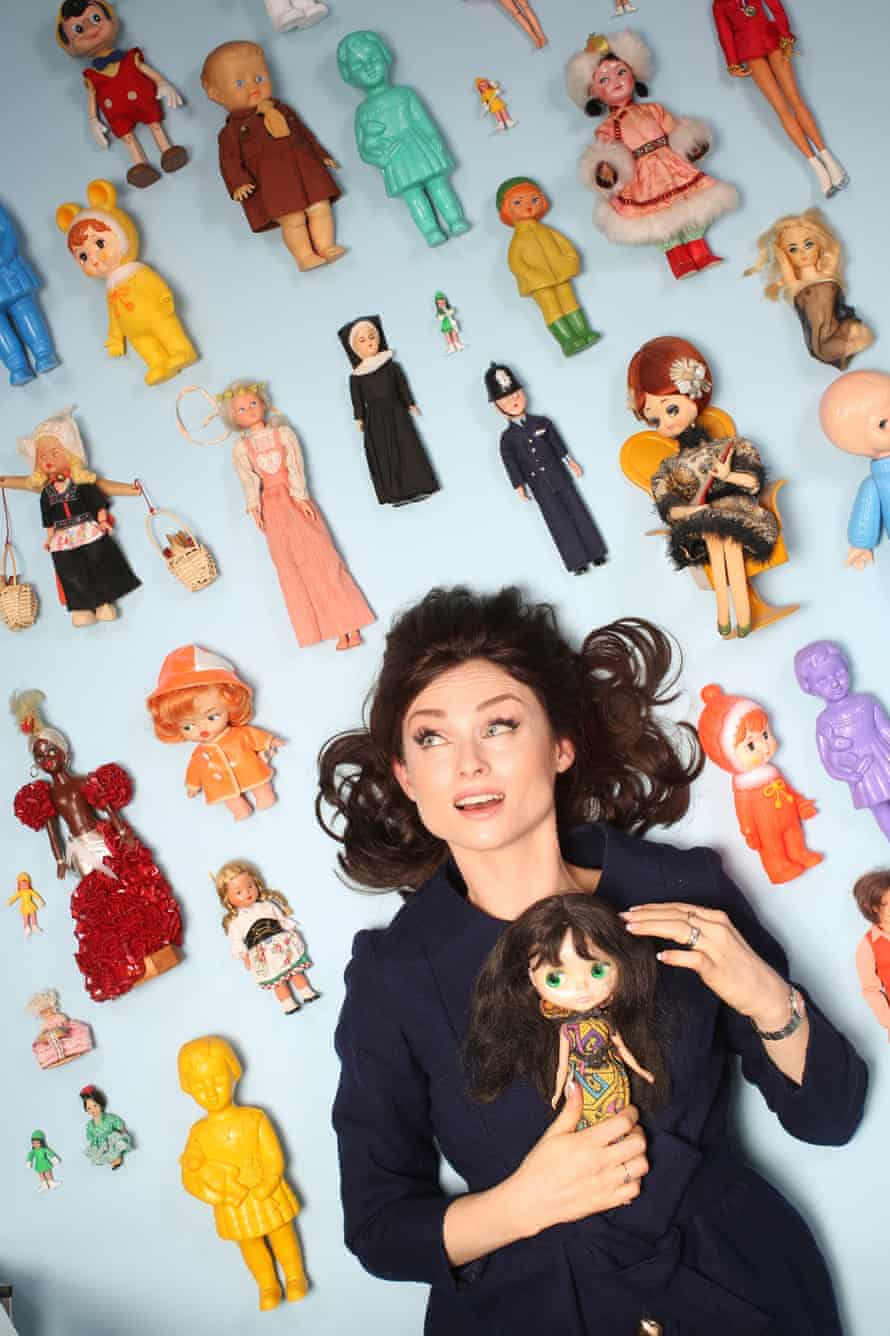 Sophie Ellis-Bextor with some of her dolls.