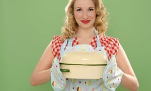 Woman with casserole