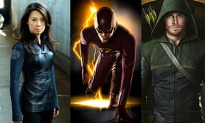 Agents of Shield, The Flash, and Arrow, contemporary superhero adaptations on TV