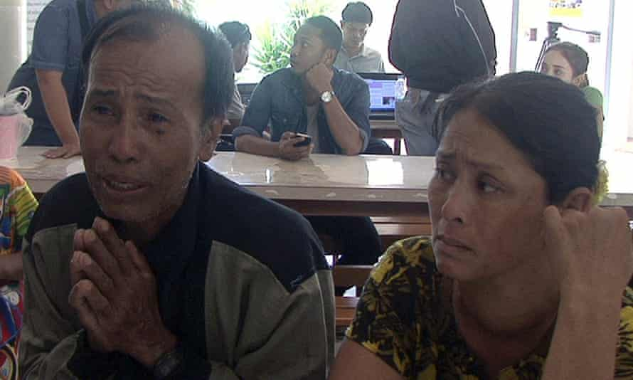The parents of Win Zaw Htun.