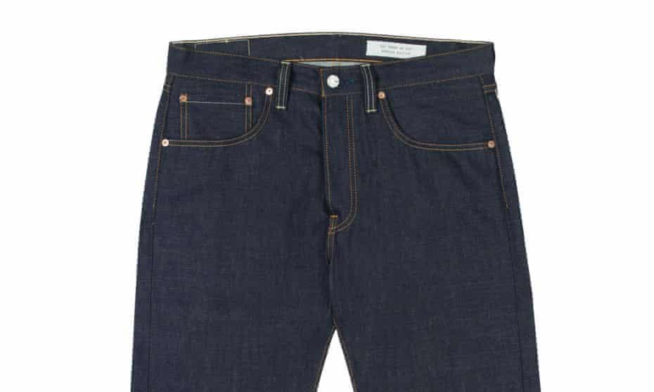 Levi's raw denim jeans