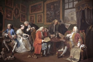 Hogarth's series Marriage a la Mode: The Marriage Settlement