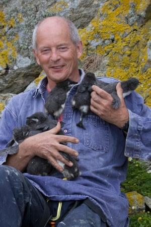 Tim Birkhead on Skomer Island