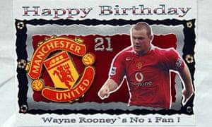 A Wayne Rooney birthday card, part of Hunter Davies' collection of football memorabilia.