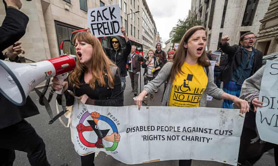 Disabled People Against Cuts (DPAC) march in London
