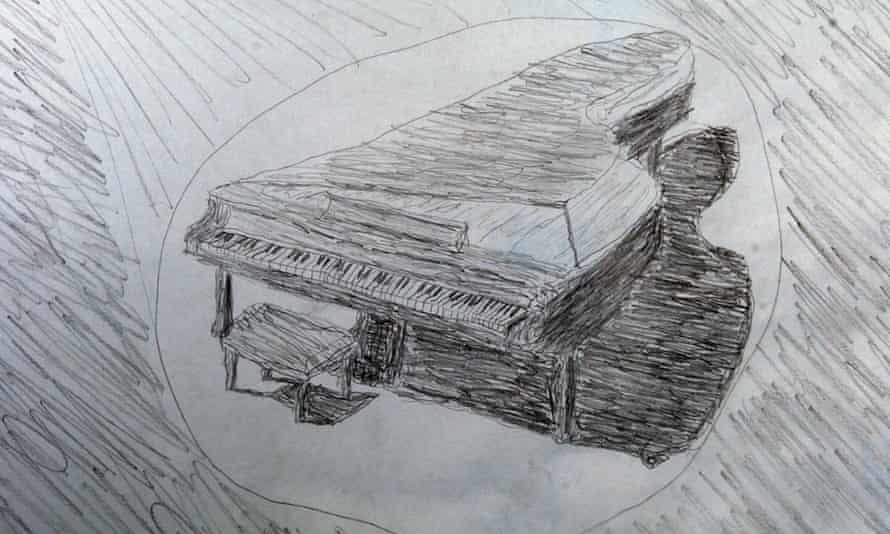 A sketch by the piano man.