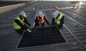 M&S solar panels