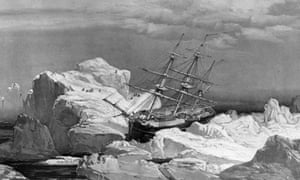An 1851 illustration showing the HMS Investigator, lost during the 1848 search for the Franklin expedition