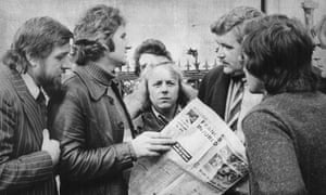 Ricky Tomlinson (left) and the 1972 builders strike