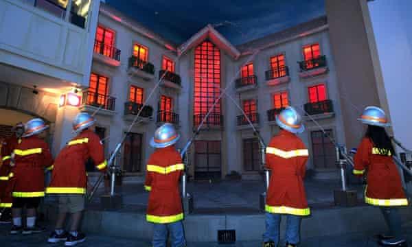 Junior Japanese firefighters