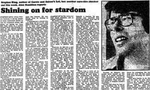 Stephen King interview, Guardian 30 Sept 1977