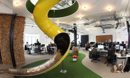 Peer 1 Hosting office slide