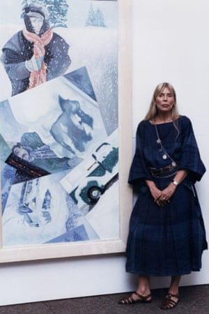Joni Mitchell at the Rotunda Gallery in Broad Street London, 1990.