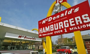 The first McDonald's franchise, which opened on April 15, 1955, and is now a museum in Des Plaines, Illinois.