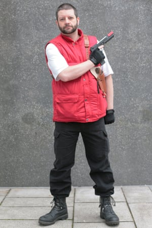 Michael Compitus as Barry Burton from Resident Evil at Comic-Con in London.