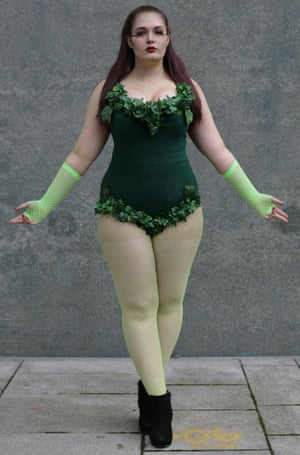 Emily Birch as Poison Ivy at Comic-Con in London.