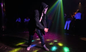 A young man dances in an Aleppo club.