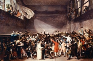 The Tennis Court Oath in Versailles by Jacques-Louis David