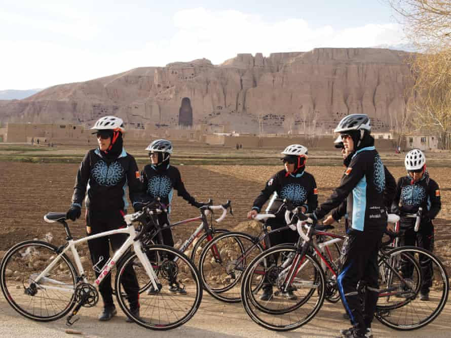 The iconic cliffs of Bamiyan, where in 2001 the Taliban blew up the giant statues of the Buddha.