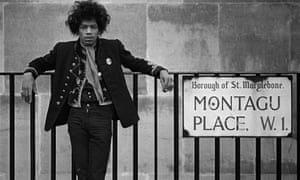 Jimi Hendrix in London, 1967.