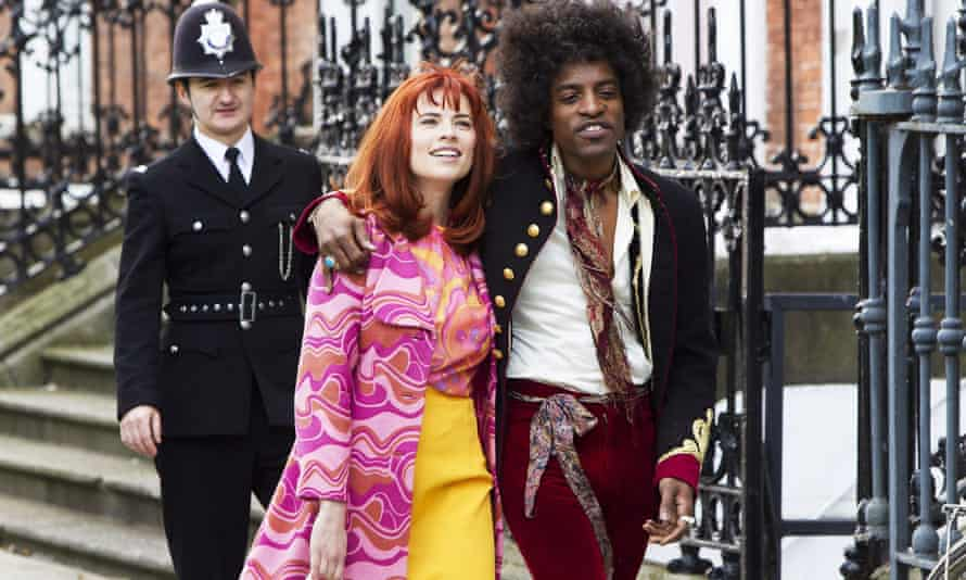 Hayley Atwell as Kathy Etchingham with André Benjamin in Jimi: All is by My Side.