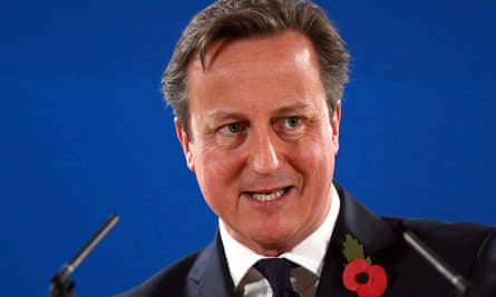 David Cameron in Brussels for a European Council meeting on 24 October 2014 in Brussels.