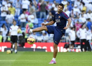 Barcelona's Luis Suarez is in the starting XI