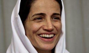 Nasrin Sotoudeh was temporarily detained while protesting in Tehran about the acid attacks on women