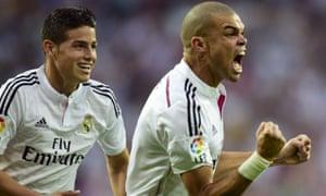 Pepe celebrates.