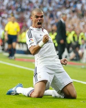 Pepe celebrates