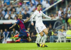 Ronaldo better watch out, there'a a flying Daniel Alves heading his way