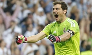 Down the other end of the pitch Real keeper Iker Casillas is just as happy
