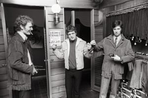 Cream get fitted out in the latest fashions at the Westerner boutique on Oxford Street, February 1967