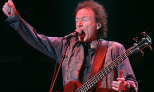 Jack Bruce performing as part of a Cream reunion concert at Madison Square Garden, New York, 2005.